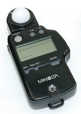 MINOLTA AUTO METER IV F Ambient Flash Light Meter from Japan WORKS GREAT!