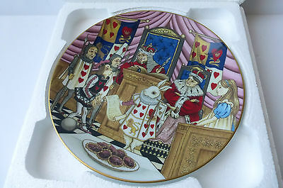 George Boyer Limoges Plate Alice and the Jack of Hearts Alice in Wonderland