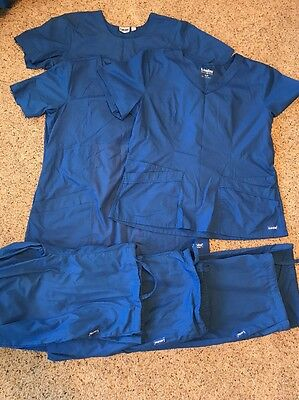 Lot Of Three Complete Sets Landau Women's Scrubs Size XL Tops And Pants