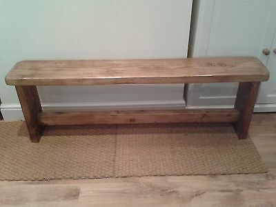 Bespoke Hand Made Country Style Solid Wood Bench