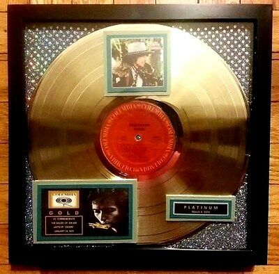 """Bob Dylan Gold Record """"DESIRE"""" Noted Platinum as well (Gold/Platinum-1976)  RARE"""