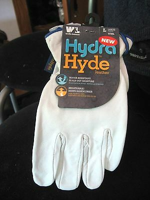Mens Hydra Hyde Leather  Gloves (Goat Skin)  by Wells Lamont - 1730 - L