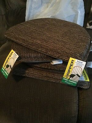 NWT The Gripper Kitchen Chair Cushions Slip Resistant Latex Backing