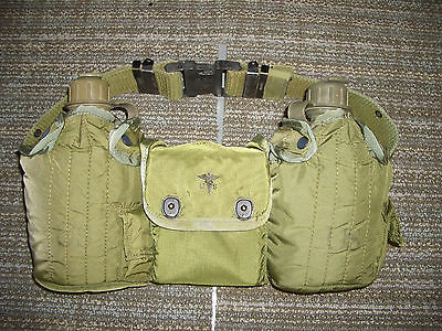 US Military Belt  2 Canteen First aid pouch and supplys