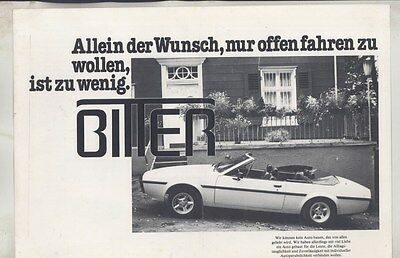 1980 Bitter SC Spider Brochure German ww3715