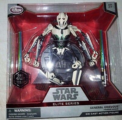 Star Wars Force Awakens General Grievous Elite Series Diecast Disney Store Fig