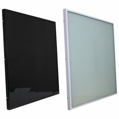 Far InfraRed Heater ThermoGlass Panel for Armstrong Ceiling 600W. Black or White