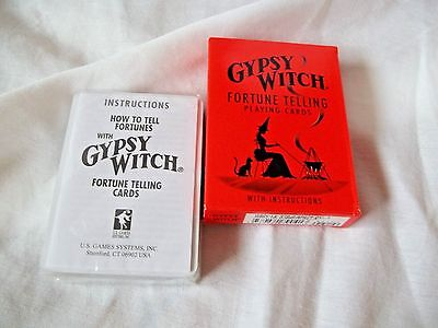 Game Fortune Telling Playing Cards Gypsy Witch with Instructions