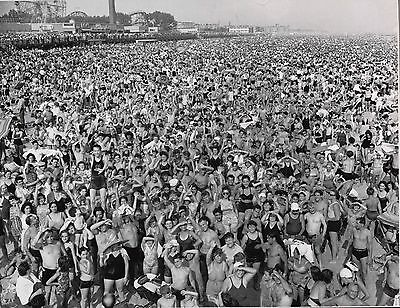 Crowd at Coney Island Brooklyn,New York During July 1940 Heatwave