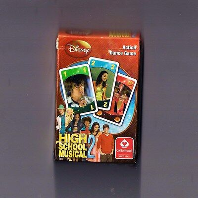 Disney High School Musical 2 ACTION DANCE GAME Cartamundi Card Game HSM vgc