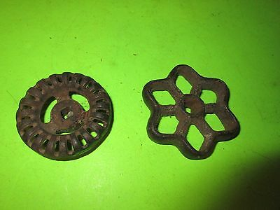 Antique Vintage Cast Iron Water Faucet Knobs Two Industrial STEAMPUNK Art (PS6B)