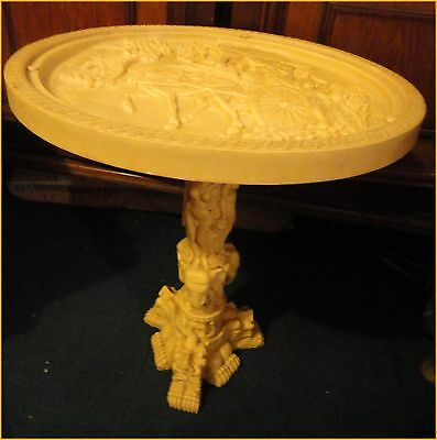 Resin occasional table -Japanese? 46 cms. high x 45 cms. diameter