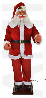 6ft Tall Animated Singing & Dancing Santa 5 Songs Christmas Decoration Indoor :)