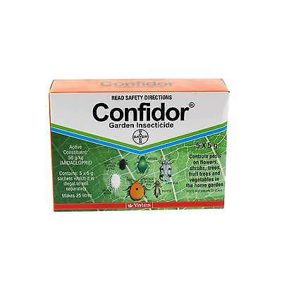 Confidor Garden Insecticide 5 x 5g Sachets Makes up to 25L Bayer 25G