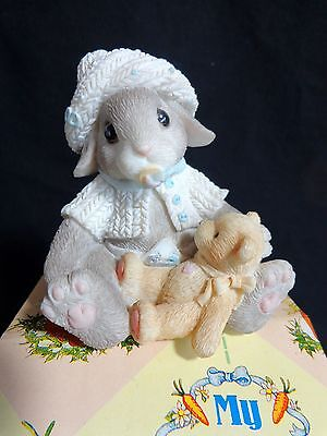 My Blushing Bunnies Bouncing Baby Boy 295698 Enesco 1997 Priscilla Hillman