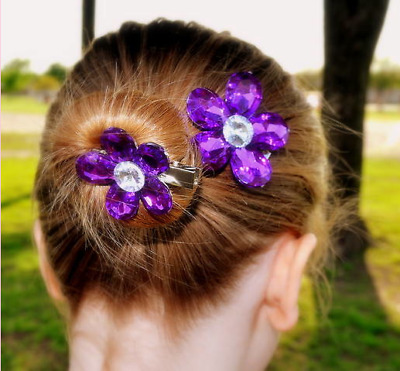 Flower Crystal Hair Clips