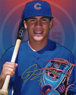 GLEYBER TORRES AUTO SIGNED 8x10 CUSTOM PHOTO CUBS / YANKEES! TOP PROSPECT PROOF!