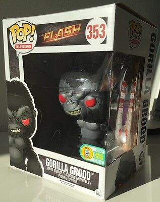 2016 Sdcc Gorilla Grodd Funko Pop Vinyl Shared Exclusive