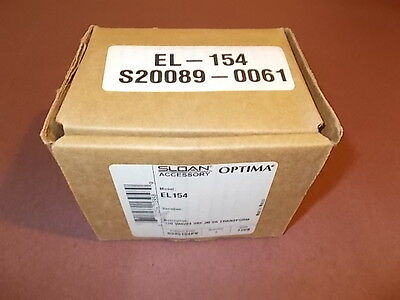 SLOAN OPTIMA Transformer 120V 50/60Hz 24V 50VA  New  - Old Stock Accessory