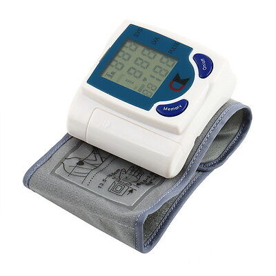 Digital LCD Wrist Blood Pressure Monitor With Heart Beat Rate Pulse Measure JX#