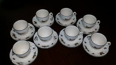 8 Johnson Bros Brookshire Cup and Saucers