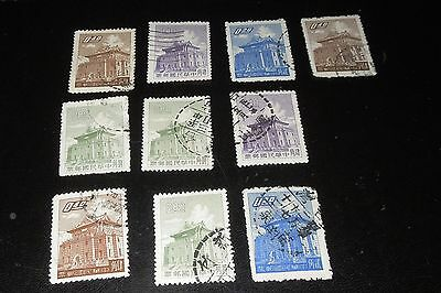 China Stamps 1960's $.20 - $.80 Cancelled Lot of 10 with 6 Duplicates for trade