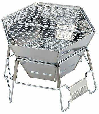 New Captain Stag M-6498 Stainless Fire Gril Bonfire stand Cooker from Japan