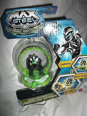 Max Steel Rip Cord Action Turbo Battlers -Spin-Battle-Eject-Cytro