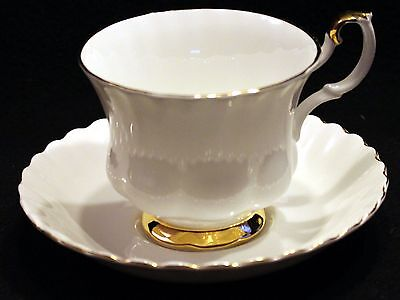 Royal Albert Val d'Or Footed Cups and Saucers (14 available)