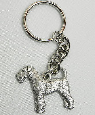 Airedale Terrier Keychain Keyring Dog Harris Pewter Made in USA Key Chain Ring