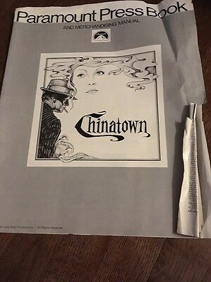 Vintage Paramount Press Book Chinatown Nicholson Dunaway Original As-Is