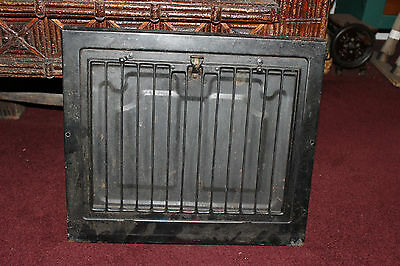 Antique Victorian Register Heat Grate W/Simple Line Design-Metal Grate Vent