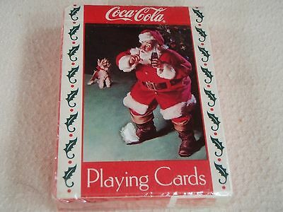 Coca-Cola 1993 Santa With Dog Playing Cards