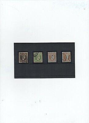 Greece. Classic Hermes Heads SC #19 x 2 singles, #51a, #53 all with nice margins