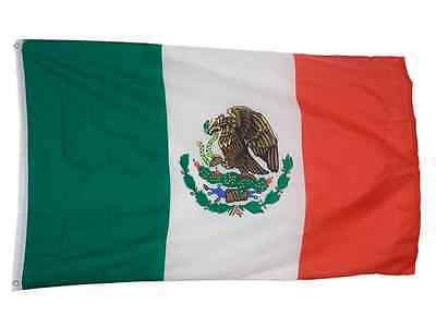 NEW 3x5 ft MEXICO MEXICAN FLAG WITH BRASS GROMMETS 3 x 5 banner