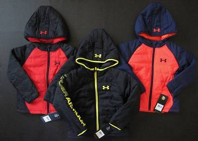 Under Armour Kid Boys Quilted Jacket winter coat size 4 5 6 Genuine NWT