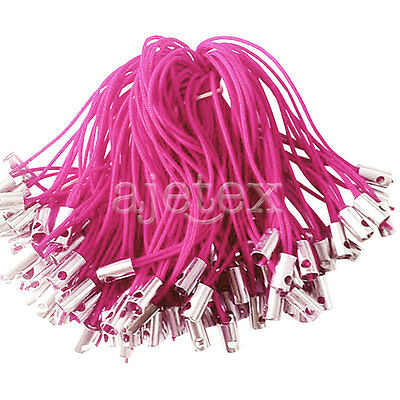 100pcs Mobile Phone Lanyards Cords Strap Lariat With Lobster Clasp Plum
