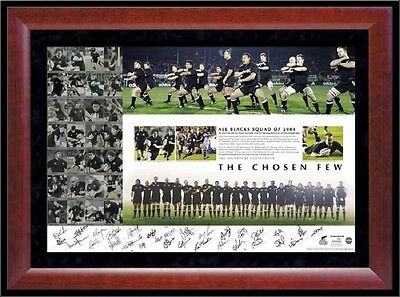 NEW ZEALAND  ALL BLACKS   SQUAD SIGNED PRINT  THE CHOSEN FEW  RICHARD McCAW