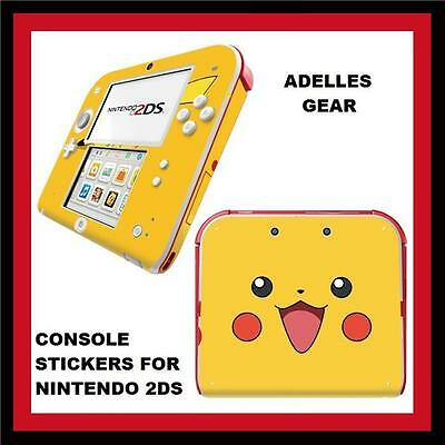 For Nintendo 2Ds Console  Case Stickers Or Skins Pokemon Pikachu Design
