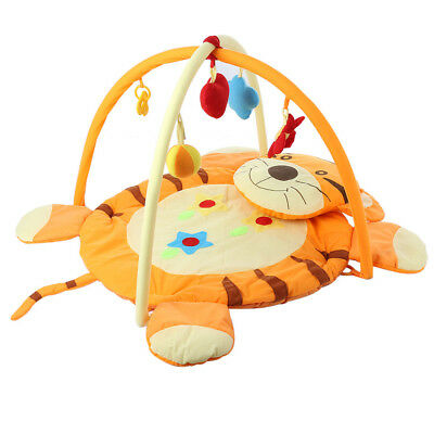 Baby Soft Fabric Play Mat Gym Blanket Fitness Frame Crawling Toy Tiger Pattern