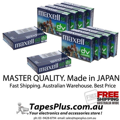 MiniDV tape Digital Video Cassette Mini DV Camcorder Tape 9 pack Maxell