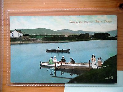 WALES POSTCARD: View of  Dysynni River, Towyn. Valentine