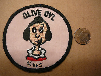 Vintage Olive Oyl Popeye Cloth Patch Kfs King Features
