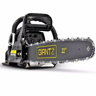 """58cc Petrol Chainsaw 22"""" Bar E-start Pruner Commercial Chain Saw Pruning #AU"""
