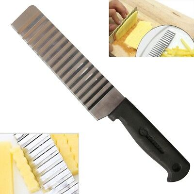 New Stainless Steel Potato Chip Dough Cutter Blade Corrugated Wavy