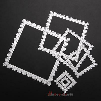 6 Pcs Square Wave Embossing Cutting Dies Stencil for DIY Scrapbooking Card Album