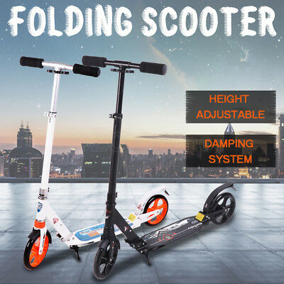 Folding Scooter Commuter Big Wheel Scooter With Suspension Adult Child Birthday