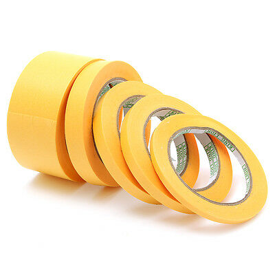 30/40/50M x 6mm/10mm/12mm/18mm/50mm Masking Tape Paint Spray Refill No Residue