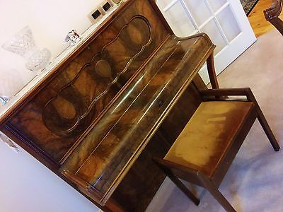 Hoelling & Spangenberg (Zeitz) upright piano and stool