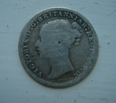 Queen Victoria Young Head 1873 Silver Threepenny Piece